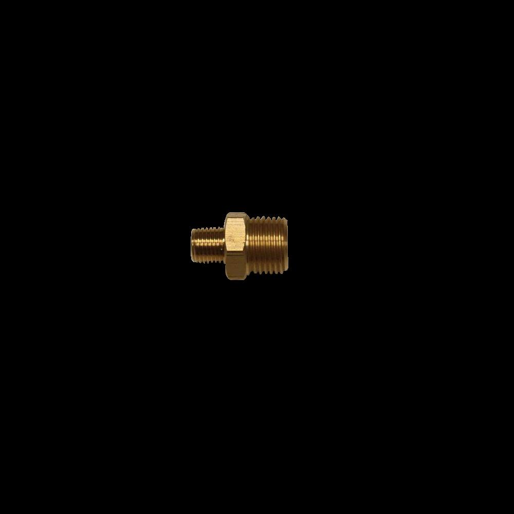 "1/2"" to 1/4"" NPT Brass Nipple For Spray Wand"
