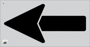 "62"" Straight Arrow Stencil"