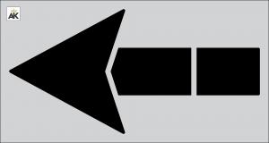 "84"" Straight Arrow Stencil"