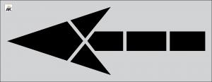 "116"" FHWA/DOT Straight Arrow Stencil"