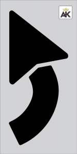 "42"" Turn Arrow Stencil"
