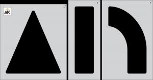 "42"" Arrow 3-pc. Combo Stencil Kit"