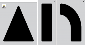 "62"" Arrow 3-pc. Combo Stencil Kit"