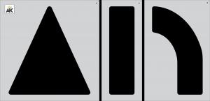 "84"" Arrow 3-pc. Combo Stencil Kit"