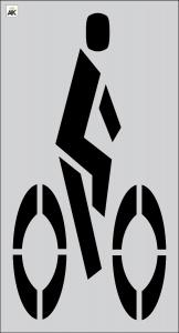 "72 "" FHWA/DOT Bike Rider Stencil"