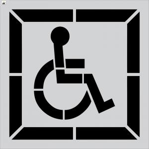"30"" DOT 1-pc. Handicap Stencil"