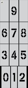 "4"" Number (0-9) 12-pc. Stencil Kit"