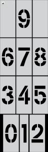 "6"" Number Kit Stencil 0-9 12 pc"