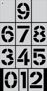 "10"" Number (0-9) 12-pc. Stencil Kit"