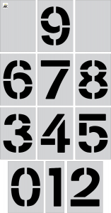 "12"" Number (0-9) 12-pc. Stencil Kit"