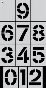 "15"" Number Kit Stencil 12 pc Kit"