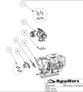 Honda Engine, Cast Iron Pump Parts