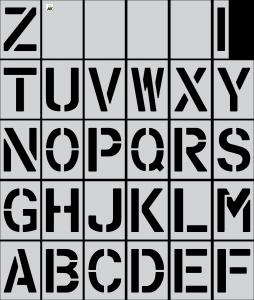 "12"" Alphabet (A-Z) 30-pc. Stencil Kit"