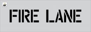 "4"" Fire Lane Stencil"