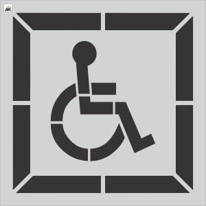 "28"" DOT Handicap Stencil"