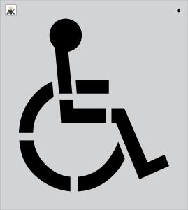 """28"""" Handicap Stencil"""