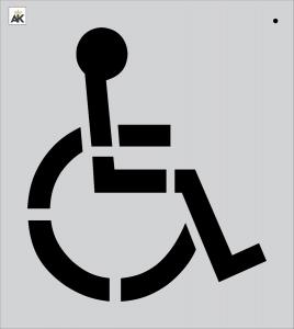 """30"""" Handicap Stencil"""