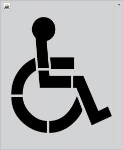 """34"""" Handicap Stencil"""