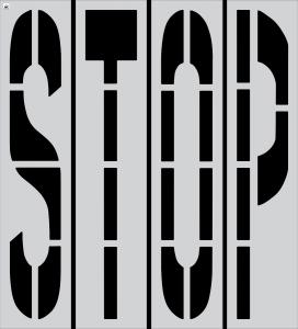 "96"" x 16"" STOP (4-pc.) Stencil Kit"