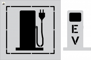 "36"" EV Electric Charging Station 2-pc. Stencil Kit"