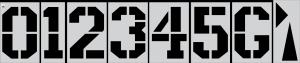 """72"""" x 48"""" Football Number Kit Stencil"""