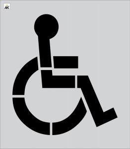 """39"""" Handicap Stencil"""