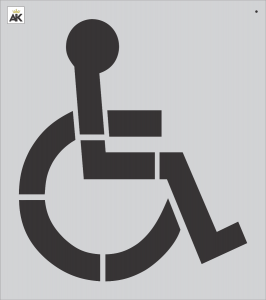 """42"""" Handicap Stencil"""