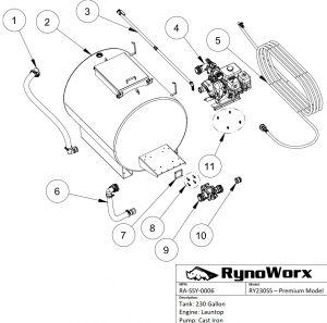 AK230 Spray System, Launtop Engine, Cast Iron Pump Parts