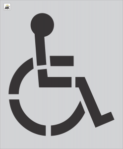 """48"""" Handicap Stencil"""