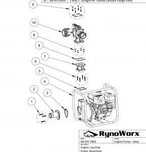 Launtop Engine, Aluminum Pump Parts - Portable