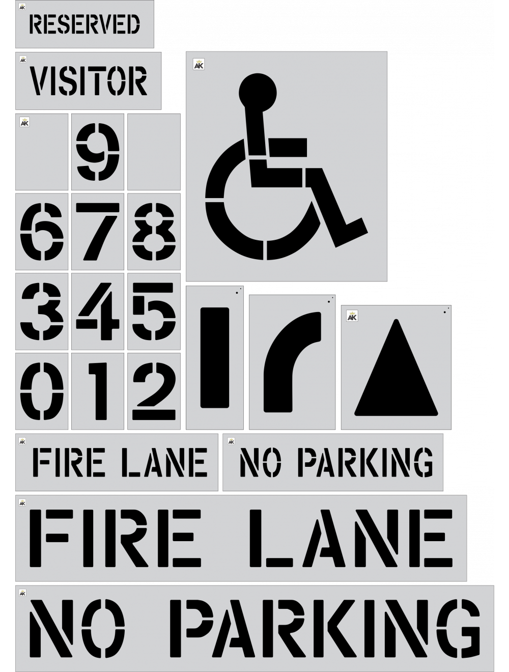 Commercial Parking Stencils