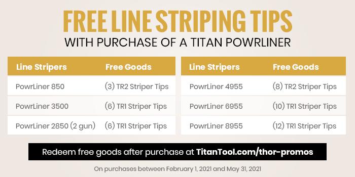 Titan Tool Promotion Spring 2021