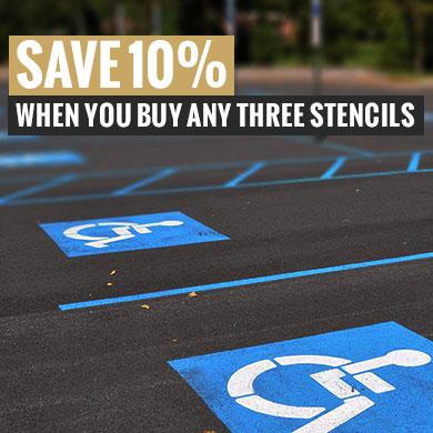 save 10% on stencils